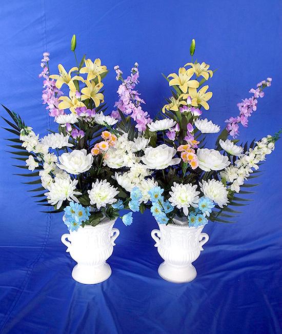 造花 75cm 花瓶8寸付 (対)