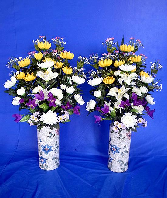 花瓶付造花(対)